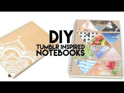DIY Summer Tumblr Notebooks ft  Caitsplace