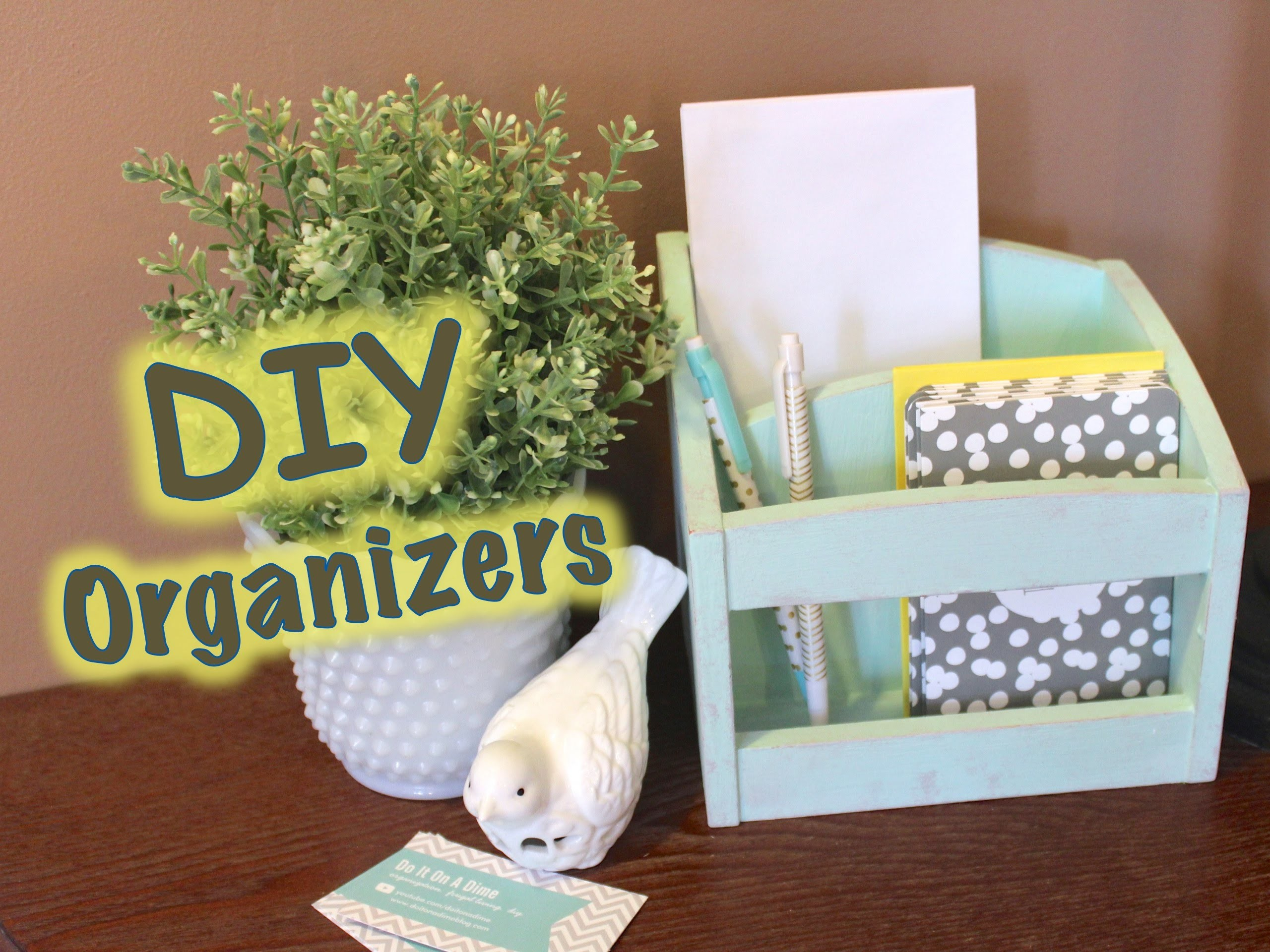 DIY UPCYCLED ORGANIZERS | feat. FolkArt Chalk Paint from Plaid