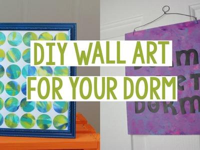 DIY WALL ART FOR YOUR DORM | DORM DECOR | EASY DORM DECOR