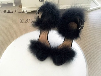 Feather Sandals D.I.Y   2014