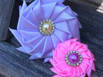 Flor catavento Passo a Passo - DIY, How to make Fabric Flowers Roses, Tutorial, DIY