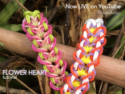 FLOWER HEART Monster Tail bracelet tutorial