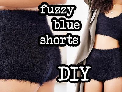 Fuzzy Blue Shorts | Make Thrift Buy #4