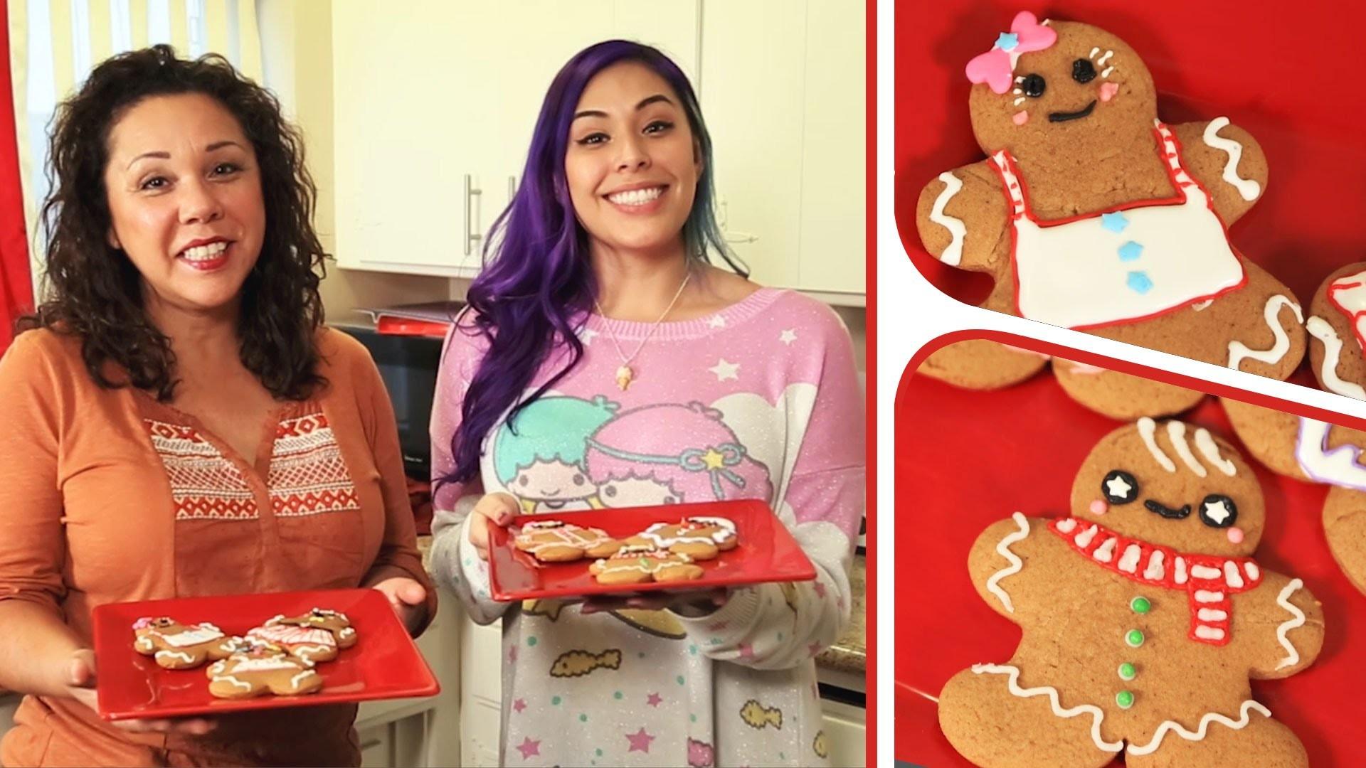 Gingerbread Men with my Mom - KAWAIIMAS