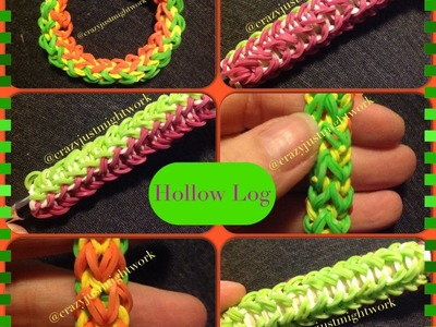 Hollow Log Bracelet.Hook Grip.Pencil Grip Tutorial - Monster Tail (can be done on Rainbow Loom)