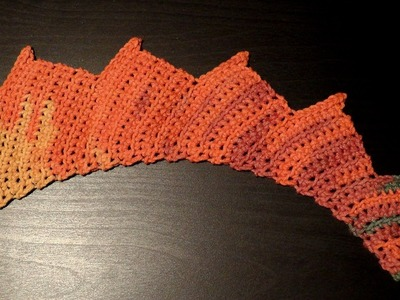 How to #crochet a dragon tail Katia BELICE for lefties