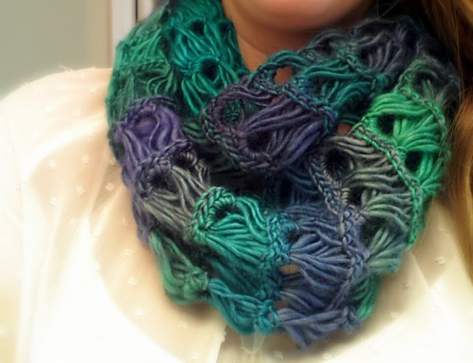 How To Crochet A Scarf Broomstick Lace Infinity Scarf Free Crochet