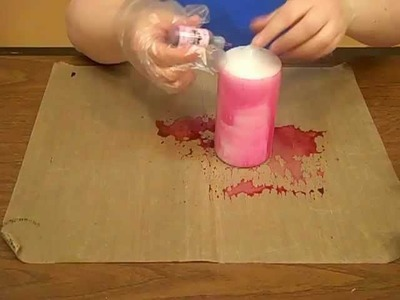 How to Dye a Candle with Alcohol Ink