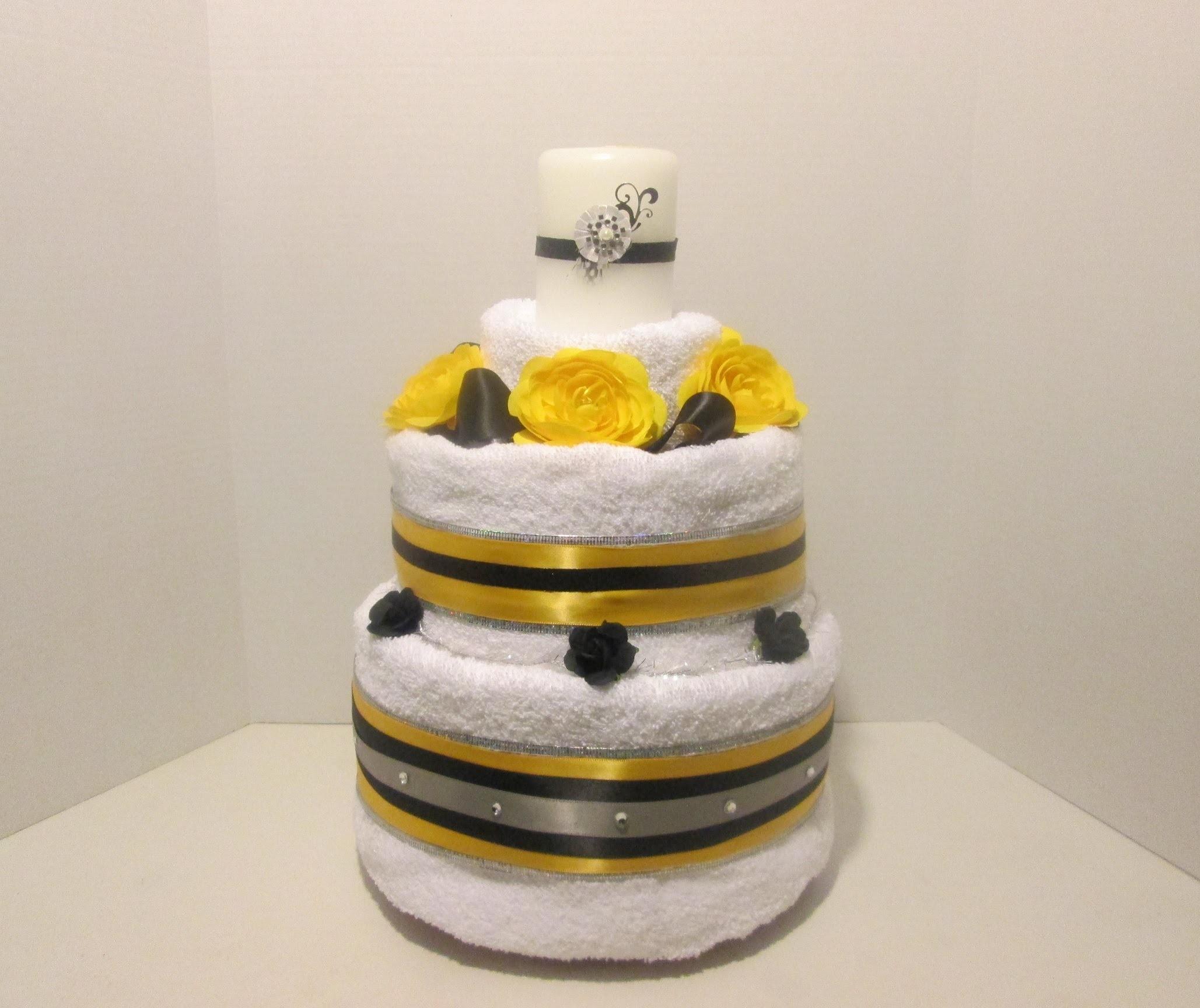 How to Make a Bridal Towel Cake (Take 1)