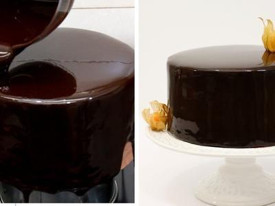 How To Make A Chocolate Mirror Glaze Cake 초콜릿 글레이즈