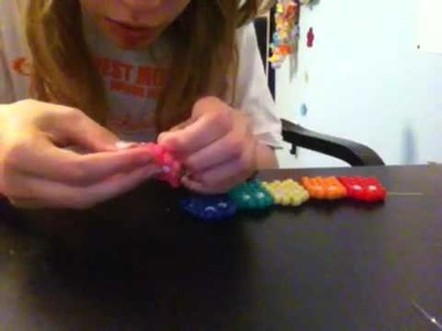 How to make a kandi pacman ghost cuff