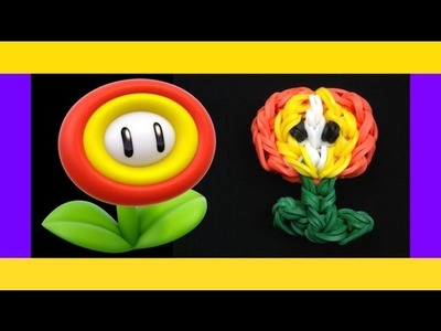 HOW TO MAKE A RAINBOW LOOM CHARMS EASY MARIO FIRE FLOWER