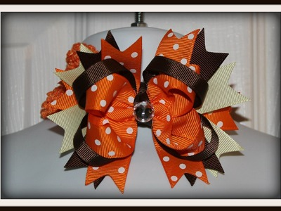 How to make an Easy boutique style hair bow tutorial