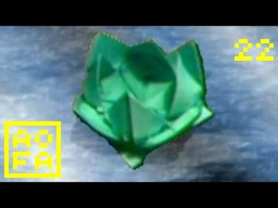 How to make an Origami Water Lily Lotus (floating) . for all (22)