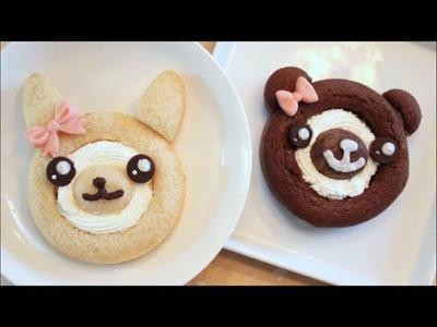 How To Make Kawaii Bunny and Bear Cake Roll!