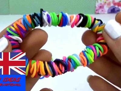 How to make Loom Bands Circle Bracelet - rainbow loom circle bracelet Tutorial