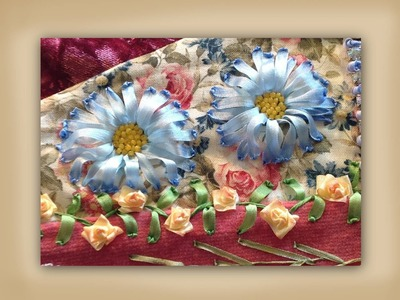 How to make silk ribbon embroidered aster daisy flower