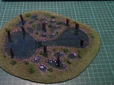 How to make stylised wargaming swamp terrain