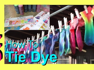 How to Tie Dye | by Happy Girls in Matching Socks | One Step Tie-Dye Kit Tutorial