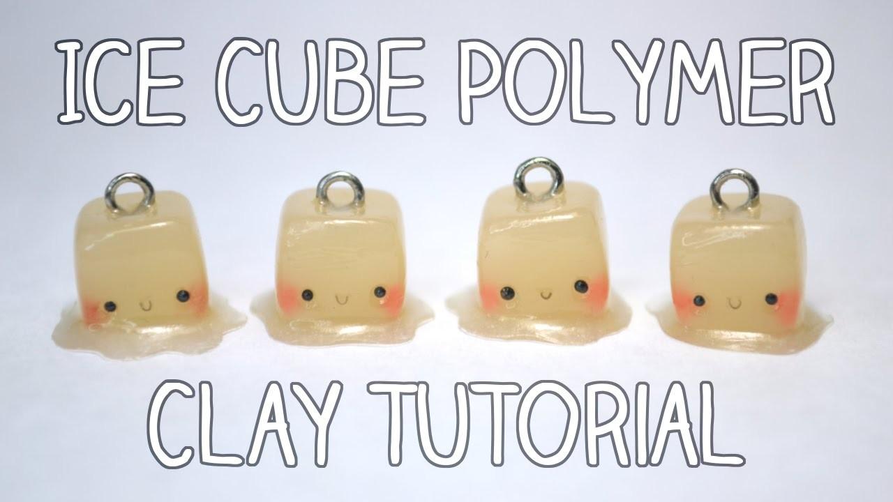 Ice Cube Polymer Clay Tutorial