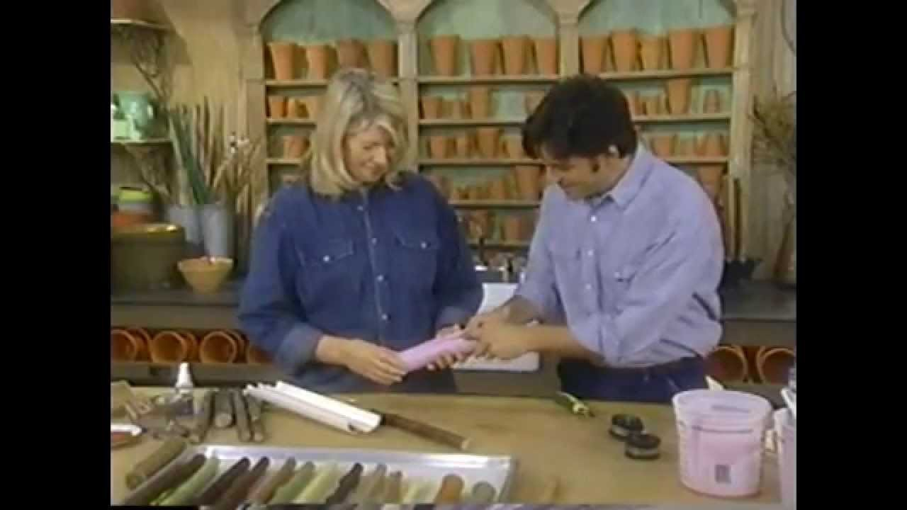 Martha Stewart Demonstrates Candle Mold Making and Wax Casting