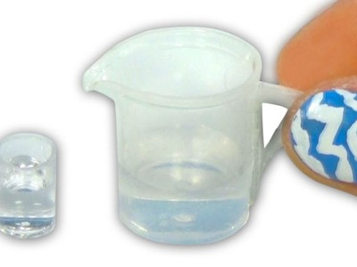 Miniature doll water pitcher tutorial - Dollhouse DIY