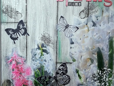 Mixed Media Canvas mit Gelatos