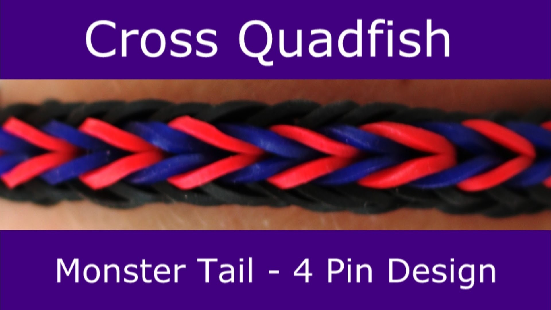 Monster Tail®  Cross Quadfish Bracelet by Rainbow Loom