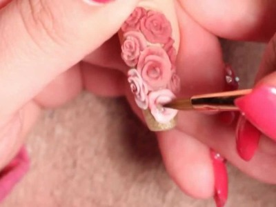 Nails with 3D Roses - Collab