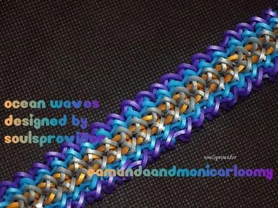 Ocean Waves Hook Only Tutorial (Rainbow Loom)