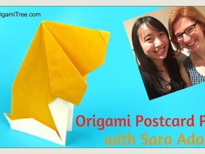 Paper Crafts - Origami Dog - Postcard Pup - Anita Barbour - Ft. Sara Adams (happyfolding.com)