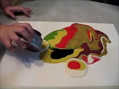 Poured  Paint Technique. Sooooo COOL!