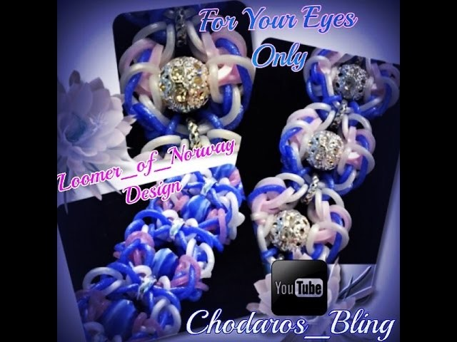 Rainbow Loom Band For your eyes only bracelet tutorial. How to