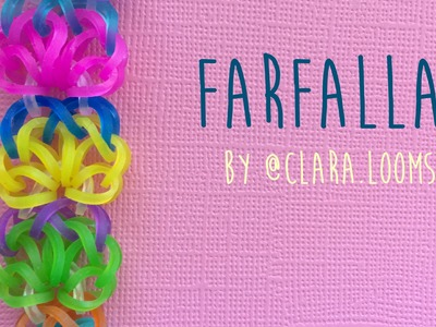 Rainbow loom bands Farfalle by @clara.looms