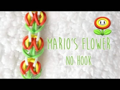 Rainbow Loom Bands  Mario's Flower No Hook Tutorial (2 Peg)