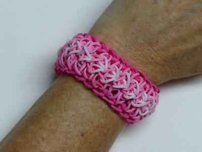 "Rainbow Loom Bracelet - Original Design - ""GLIMMER OF HOPE"" (ref #5L)"