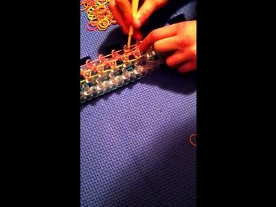 Rainbow loom cool bracelet I made up