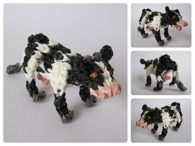 Rainbow Loom cow Loombicious