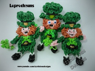 Rainbow Loom Leprechaun Action Figure for St Patricks Day Tutorial
