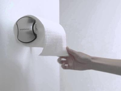 Simplehuman wall mount paper towel holder