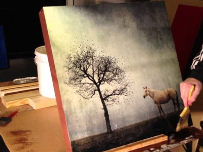Sis - Photographic Encaustic Time Lapse