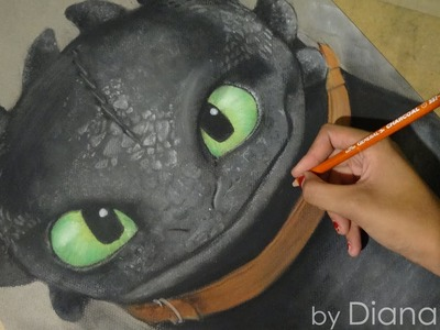 Speed Drawing: Toothless.Chimuelo (How To Train Your Dragon) | Diana Díaz
