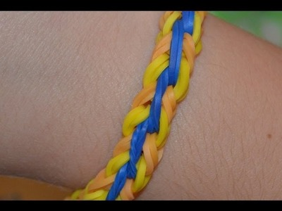 Striped Double Rainbow Loom Bracelet