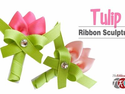 Tulip Ribbon Sculpture - TheRibbonRetreat.com