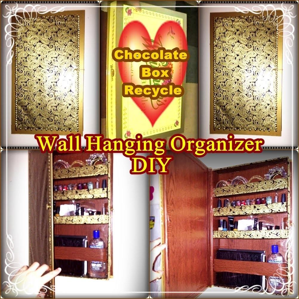 Wall Hanging Organizer DIY  (RECYCLED CHOCOLATE BOX)