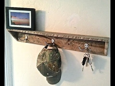 WOOD PALLET COAT RACK - PALLET PROJECTS - HOW TO TUTORIAL