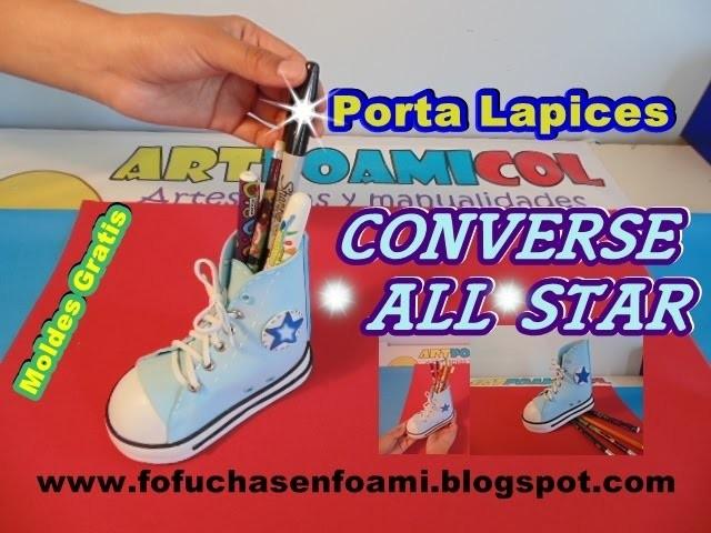 4c3c55b90a56 ZAPATO PORTA LAPICES CONVERSE ALL STAR EN FOAMI O GOMAEVA