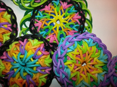 4 Pin Bar Large Kaleidoscope Bracelet Tutorial by feelinspiffy (Rainbow Loom)