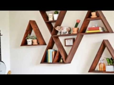9 Trendy DIY Geometric Wall Shelf Projects