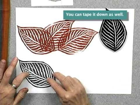 A Quick, Easy Masking Tip for  Fabric and Paper Stamping